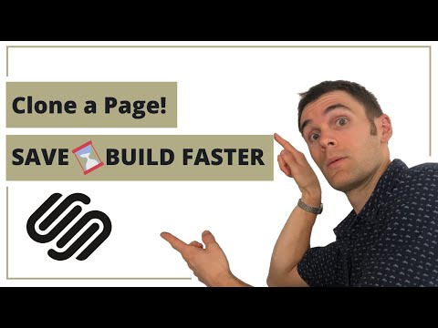 How to duplicate a page in Squarespace 7.1 | Don't Forget the SEO description