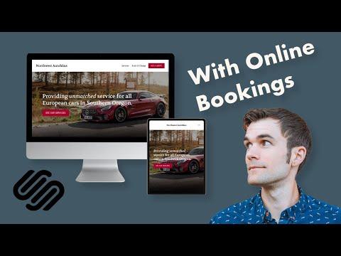 Modern Website Design For Auto Repair Shop Using Squarespace