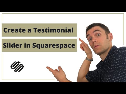 How to add testimonial slider to Squarespace website | Using flickity carousel