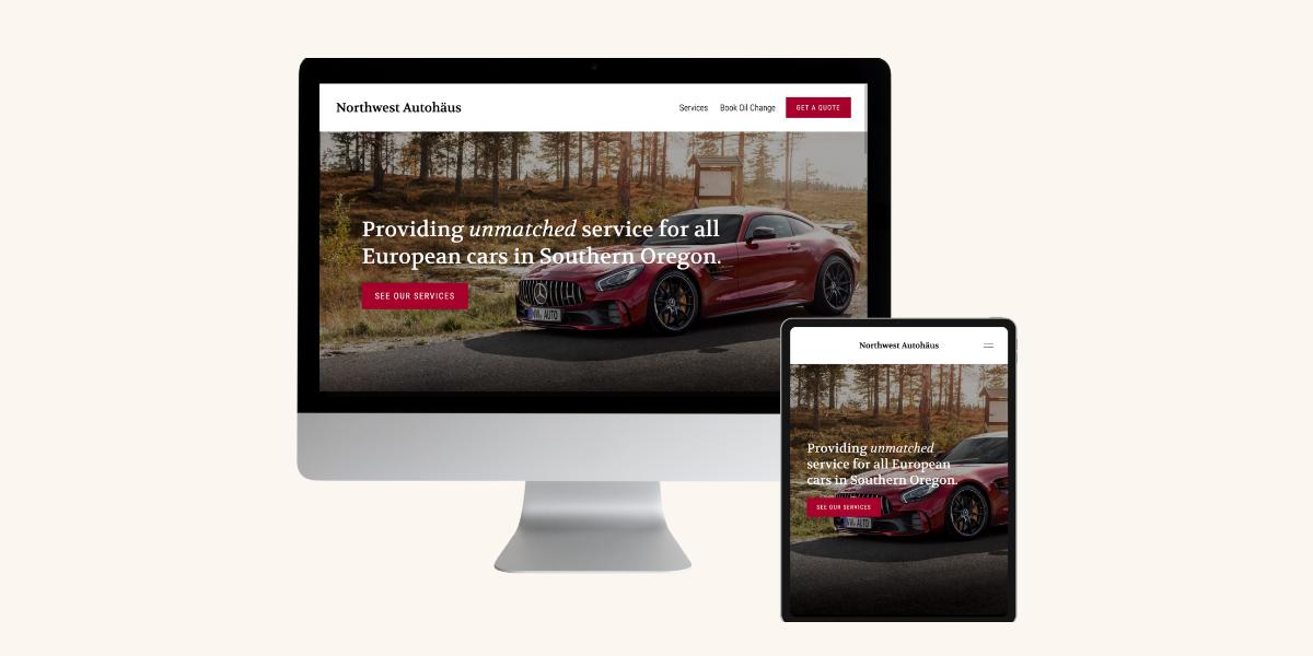 Auto Mechanic Web Design